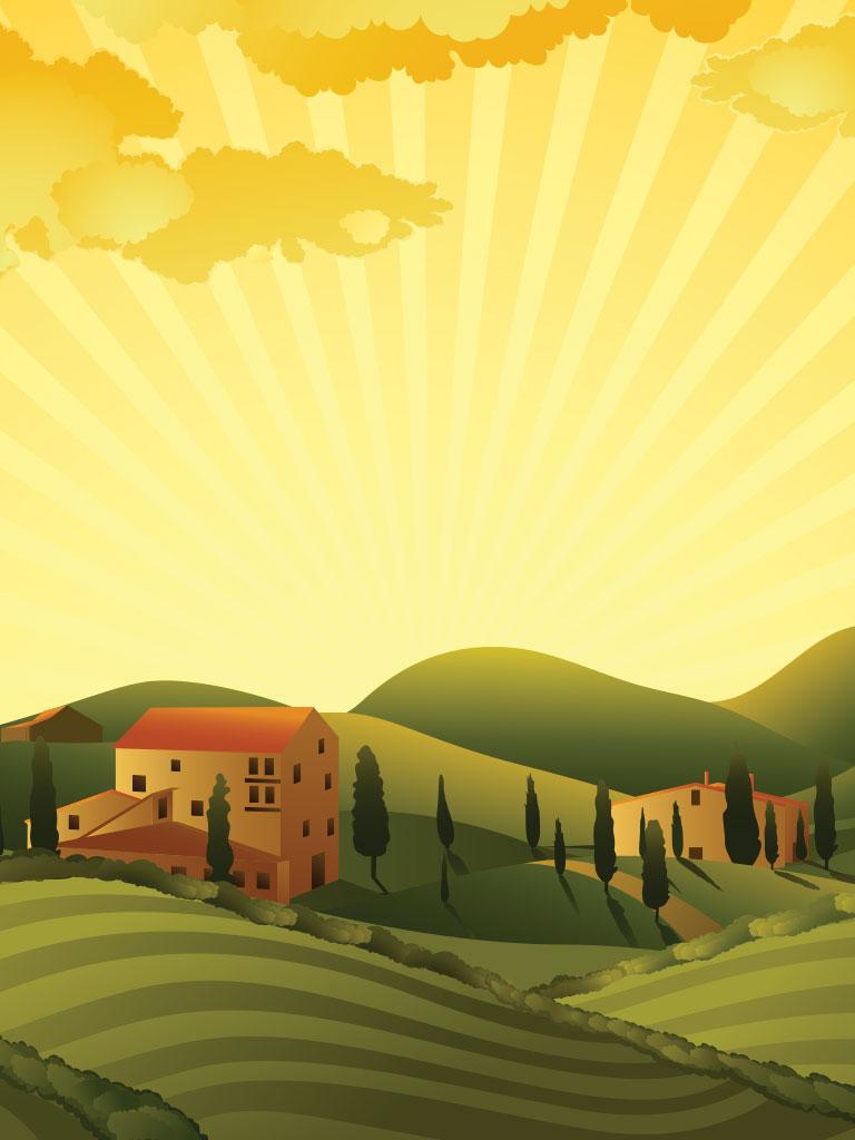 Background image farm